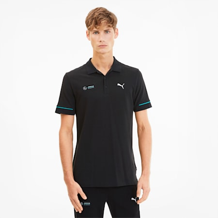 Mercedes Men's Polo Tee, Puma Black, small-SEA