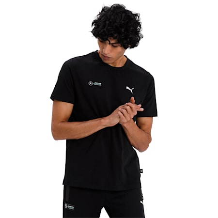 Mercedes Graphic Men's T-Shirt, Puma Black, small-IND
