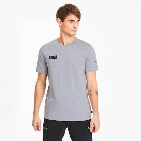 Mercedes Graphic Men's Tee, Mercedes Team Silver, small-SEA