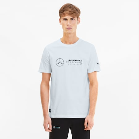 Mercedes Logo Men's Tee, Puma White, small-SEA