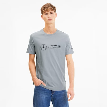 Mercedes Logo Men's Tee, Mercedes Team Silver, small