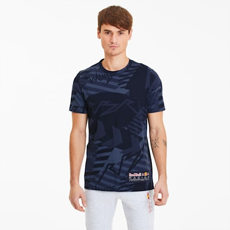 T-Shirt Red Bull Racing Allover-Print pour homme, NIGHT SKY, small