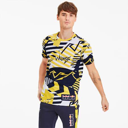 Red Bull Racing AOP T-shirt voor heren, Freesia, small