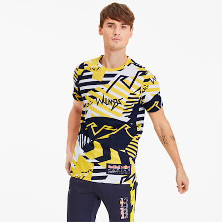 T-Shirt Red Bull Racing Allover-Print pour homme, Freesia, small