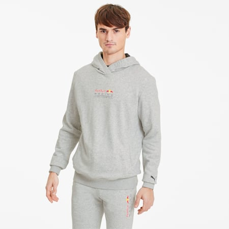 Sudadera con capucha Red Bull Racing Dynamic Bull para hombre, Light Gray Heather, pequeño