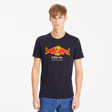 Red Bull Racing Double Bull Men's Tee, NIGHT SKY, small-SEA