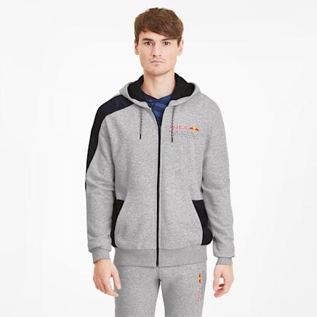 Męska bluza z kapturem Red Bull Racing, Light Gray Heather, small