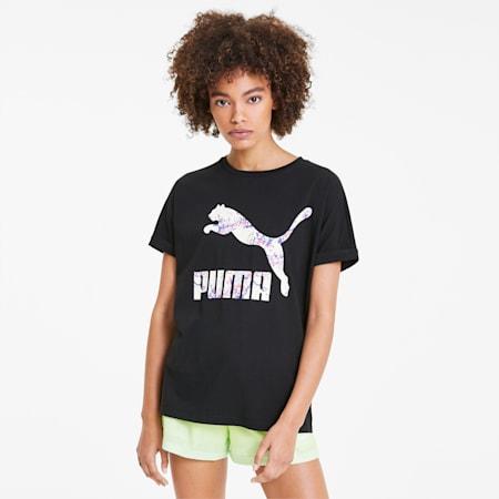 AOP Women's Roll Up Tee, Puma Black, small