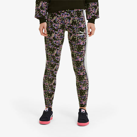 Women's AOP Leggings, Puma Black-splat AOP, small