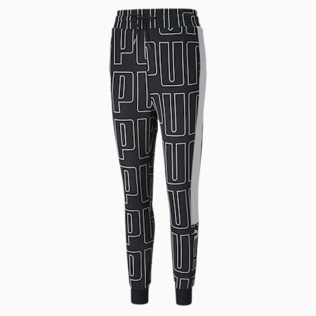 Damskie spodnie dresowe AOP, Puma Black, small