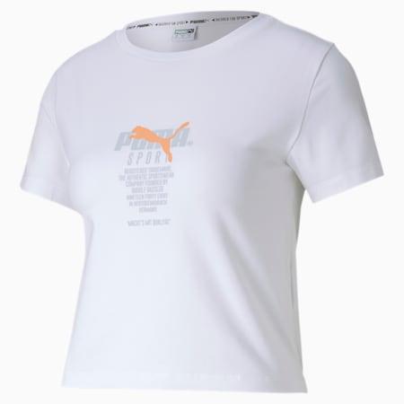 Tailored for Sport Graphic Women's Crop Top, Puma White, small-SEA
