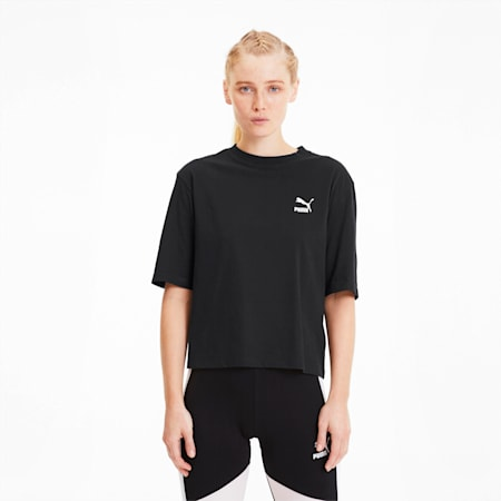 Tailored for Sport Women's Graphic Tee, Puma Black, small