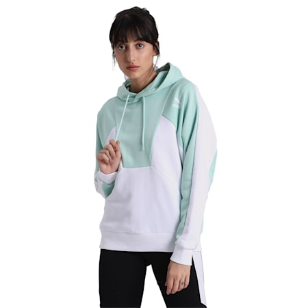 Tailored for Sport Women's Hoodie, Mist Green, small-IND
