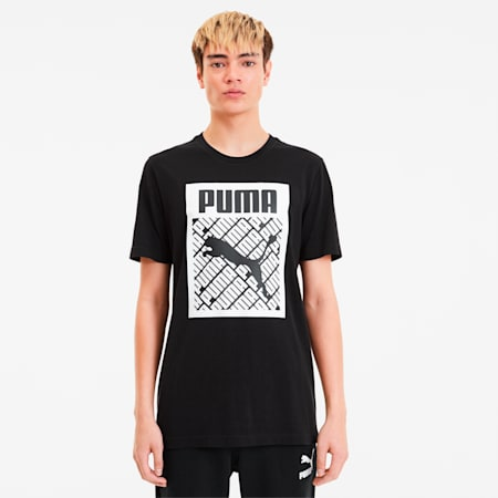 Men's Logo Fill Tee, Puma Black, small