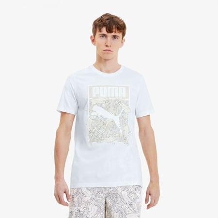 Men's Logo Fill Tee, Puma White, small
