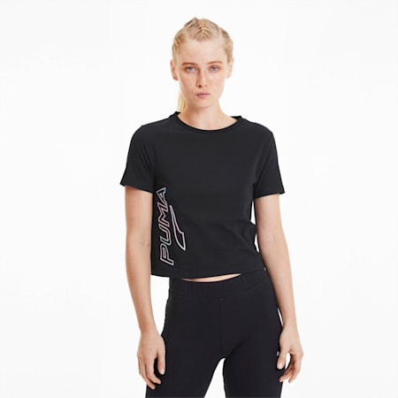 Glow Pack Short Sleeve Women's Top, Puma Black, small-SEA