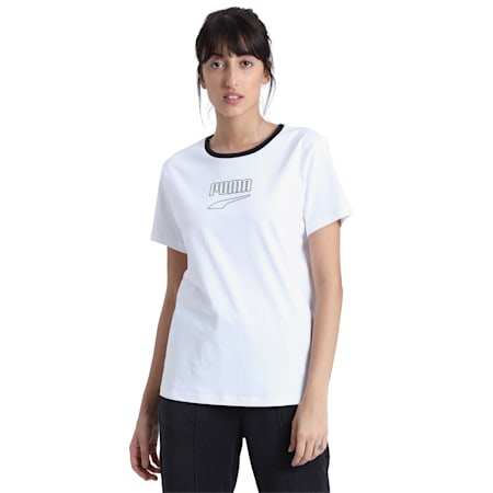 Downtown Tee, Puma White, small-IND