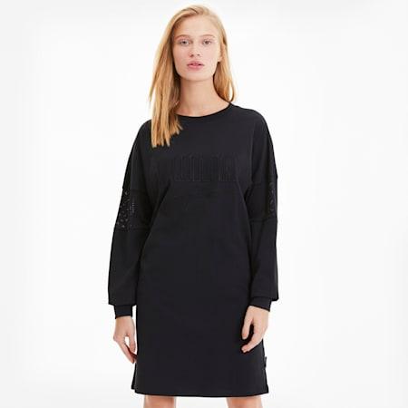 Downtown Statement Women's Dress, Puma Black, small-SEA