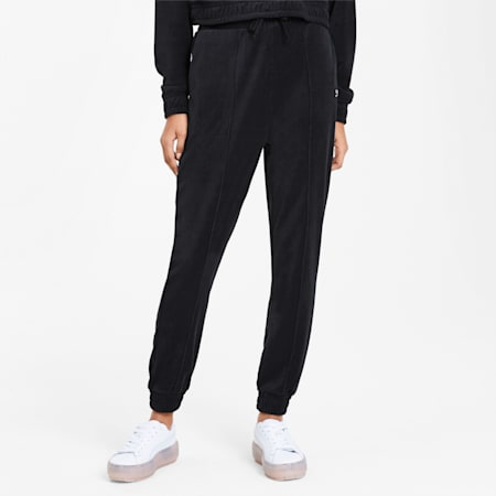 Downtown Tapered Damen Sweatpants, Puma Black, small