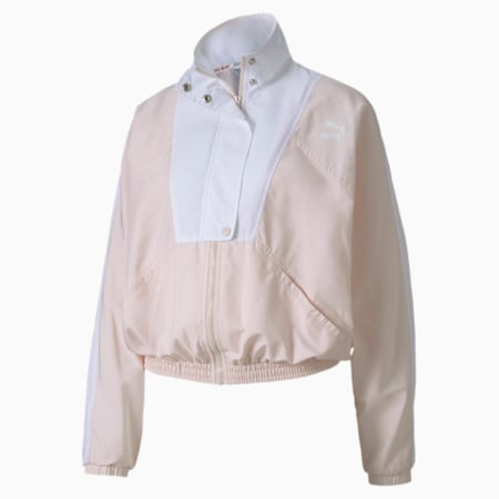 Tailored for Sport Women's Track Jacket, Rosewater, small