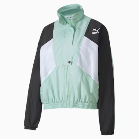 Tailored for Sport Woven Women's Track Jacket, Mist Green, small