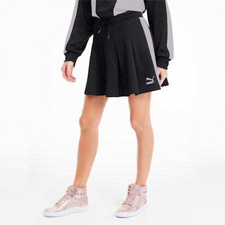 Jupe plissée Classics T7 pour femme, Puma Black, small