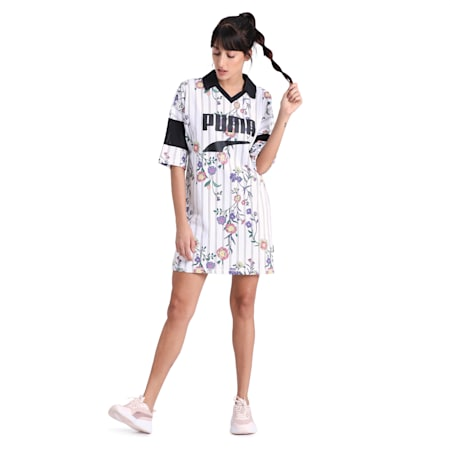 Downtown AOP Dress, Puma White, small-IND