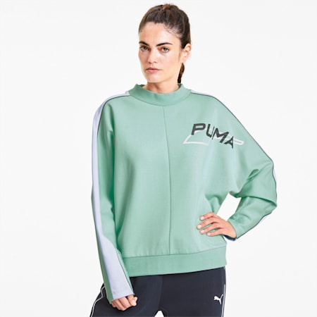 Evide Women's Crewneck Sweatshirt, Mist Green, small
