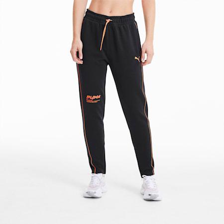 Pantalon en sweat Evide pour femme, Puma Black-Fizzy Orange, small