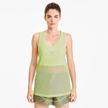 Evide Women's Open Mesh Tank, Sunny Lime, small