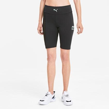 Evide Women's High Waisted Tight Shorts, Puma Black, small