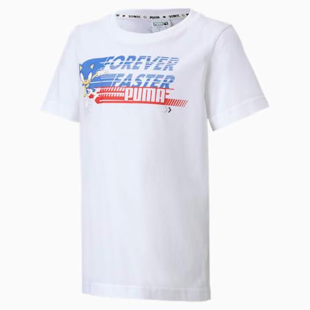 キッズ PUMA x SEGA Tシャツ 半袖 92-152cm, Puma White-Palace Blue, small-JPN