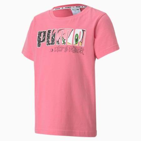 Camiseta PUMA x SONIC para niños, Bubblegum, pequeño