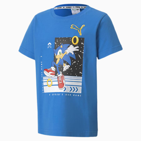 キッズ PUMA x SEGA Tシャツ 半袖 92-152cm, Palace Blue, small-JPN
