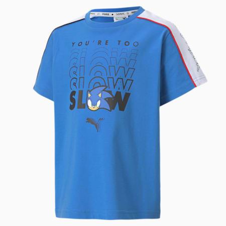 T-shirt da bambino PUMA x SONIC Advanced bambino, Palace Blue, small