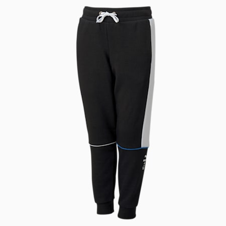 PUMA x SONIC Boys' Sweatpants, Puma Black, small-SEA