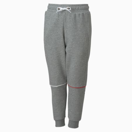 Chłopięce spodnie dresowe Puma x SONIC, Medium Gray Heather, small
