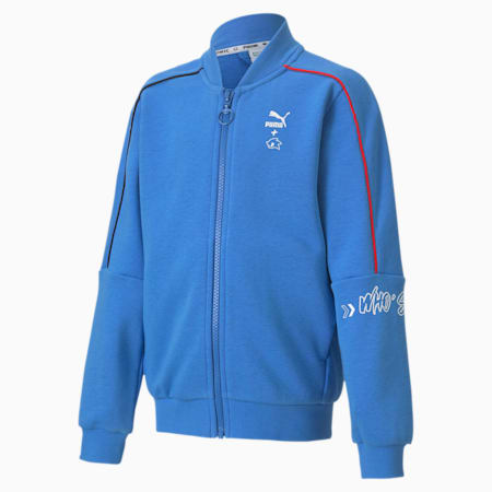 PUMA x SONIC Kids' Bomber Jacket, Palace Blue, small