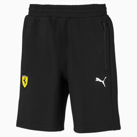 Scuderia Ferrari Kids' Sweat Shorts, Puma Black, small-SEA