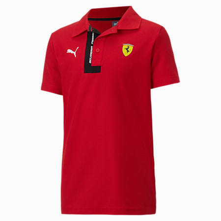 Scuderia Ferrari Boys' Polo JR, Rosso Corsa, small