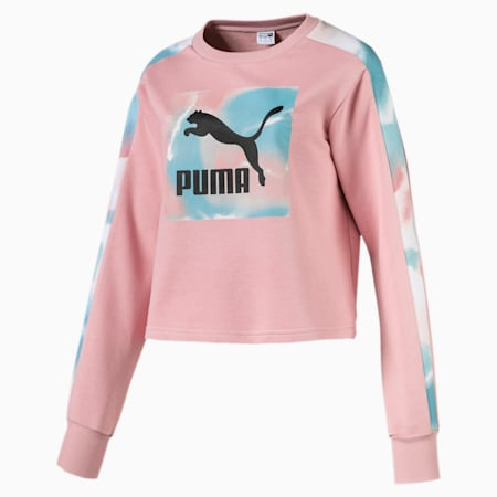 Cloud Pack Long Sleeve Women's Sweater, Bridal Rose, small-SEA