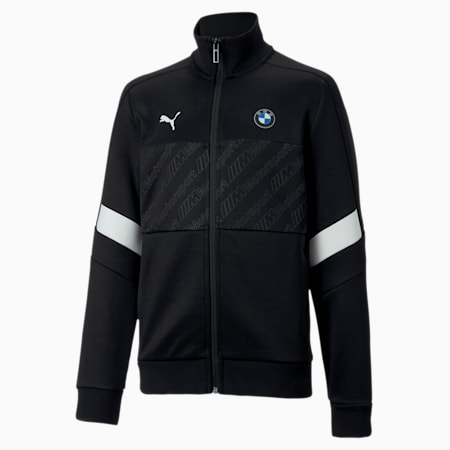 BMW M Motorsport Boys' T7 Track Jacket, Puma Black, small