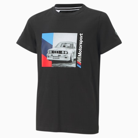 BMW M Motorsport Boys' Graphic Tee JR, Puma Black, small