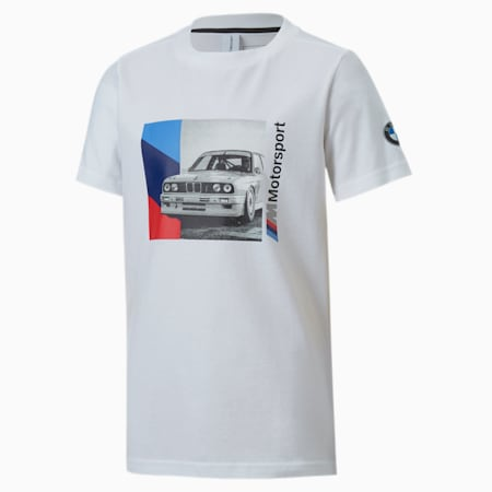 BMW M Motorsport Boys' Graphic Tee JR, Puma White, small
