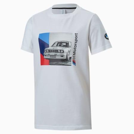 T-shirt graphique BMW M Motorsport, garçon, enfant, Blanc Puma, petit