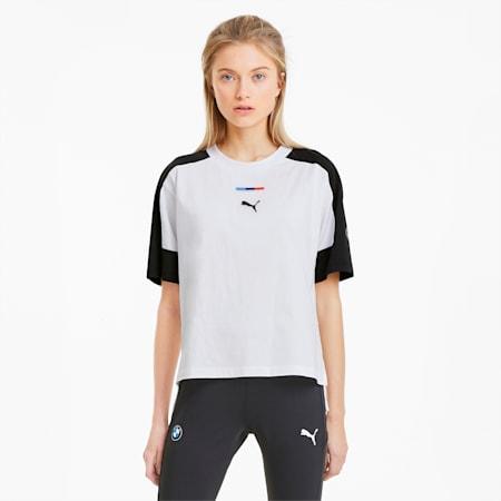 BMW M Motorsport Street Damen T-Shirt, Puma White, small