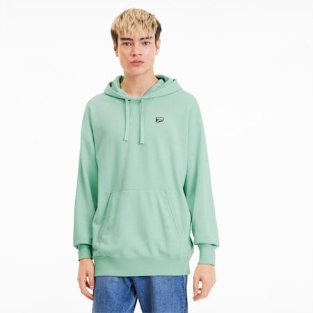Chaqueta con capucha Downtownpara hombre, Mist Green, pequeño