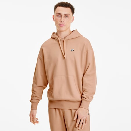 Downtown Men's Hoodie, Pink Sand, small