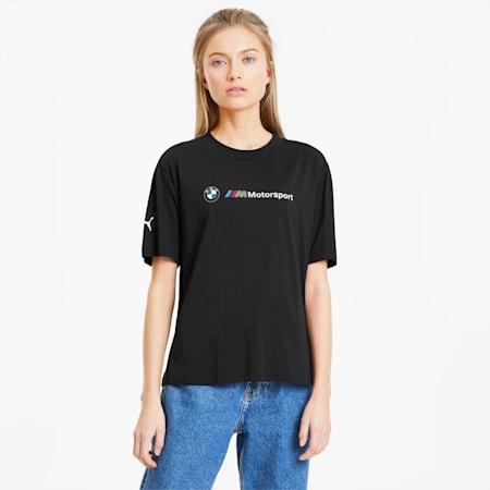 BMW M Motorsport Damen T-Shirt, Puma Black, small