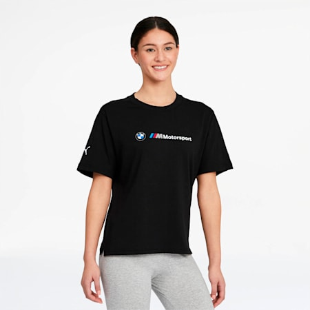 BMW M Motorsport Women's Tee, Puma Black, small